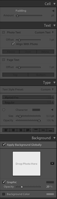 Book Module editing panel