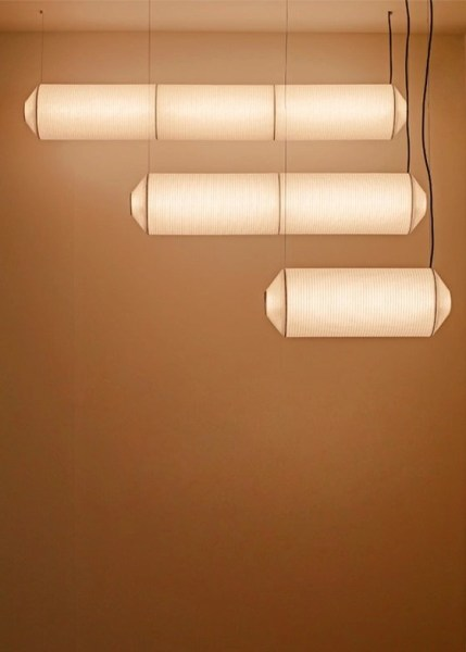 Three horizontal Tekio lights from Santa & Cole