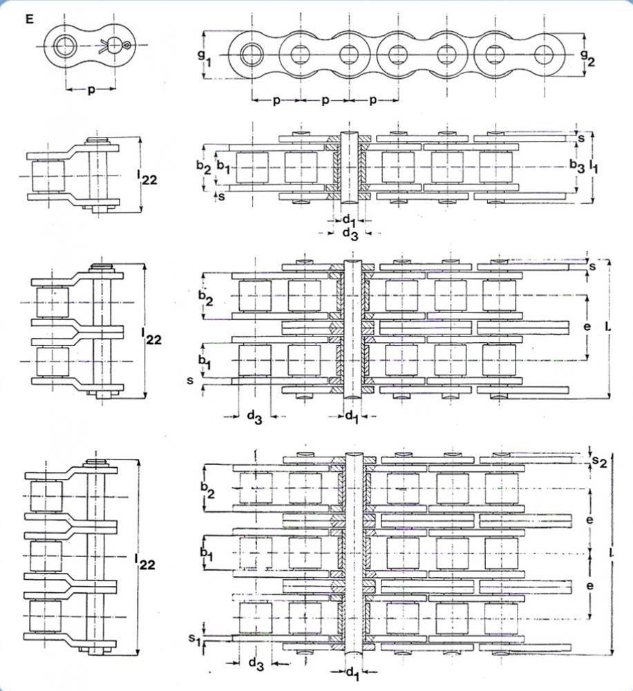 hight resolution of power transmission roller chains