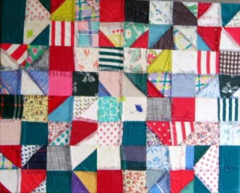 fractured scrap quilt