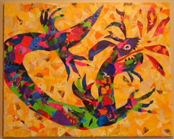 MDA raleigh dragon art, group art piece designed by Ruth Warren