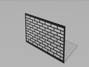 Panel ogrodzeniowy Bricks