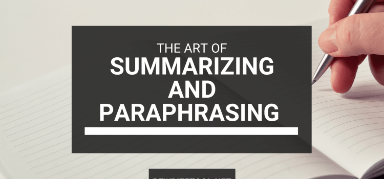 Summarizing and Paraphrasing Examples