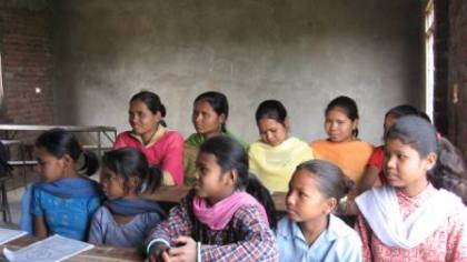bridging class for rescued girls