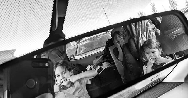 Kids in rear view