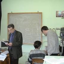 Засновник кафедри М. Новоселець, М. Кононов та С. Радченко, 2002 р.