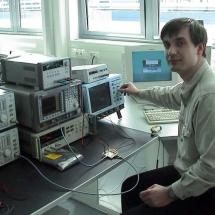 Аспірант кафедри В. Дикий в науковій лабораторії в Німеччіні, 2004 р.