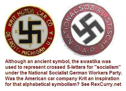 Krit Motor Car Company Swastika S Letters For Socialism Under