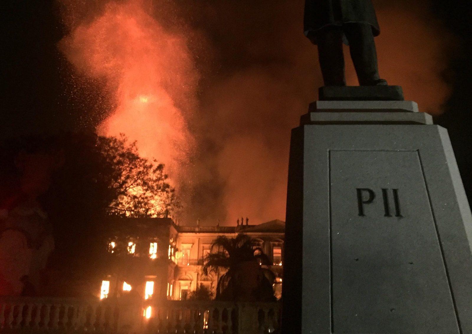 Fire at the Museo Nacional in Rio de Janeiro, Brazil, September 2, 2018.