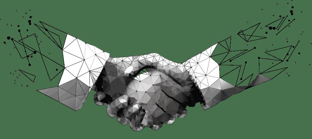 handshake symbolizing RexRoi and esun