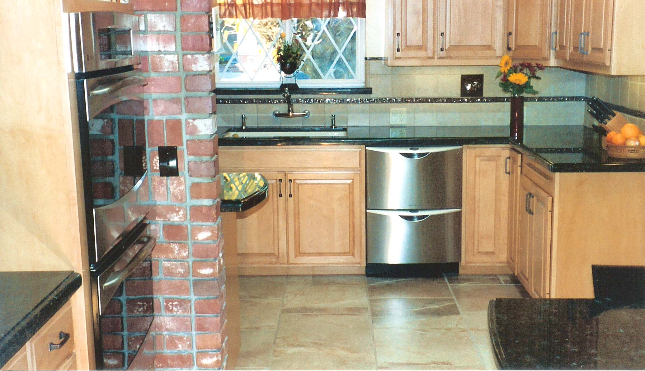 kitchen and bath remodel outdoor with freestanding grill remodeling