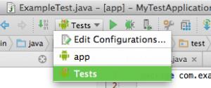 test config