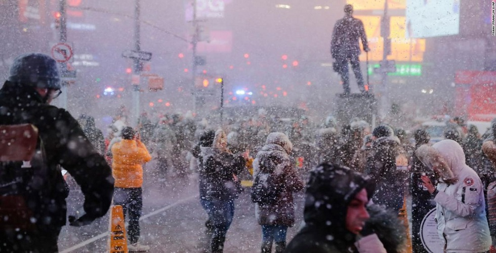 Snow Squall in New York City