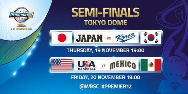 Premier 12 – Korea vs. Japón (Semifinal)