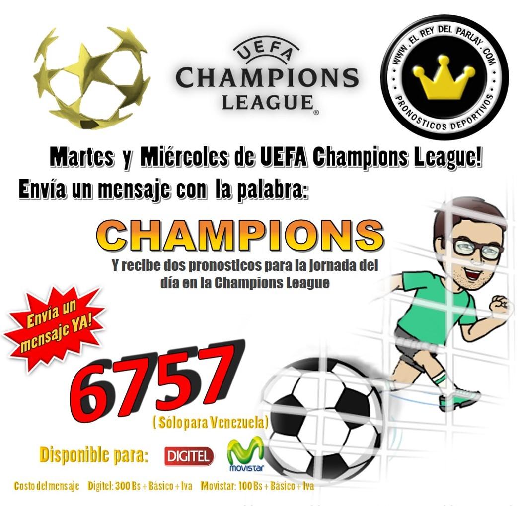 mensajería champions league