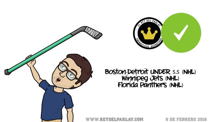 ¡Parlay gratis de NHL, ACERTADO!