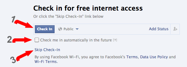 Automatic Facebook Check-in