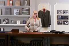 Mandatory Credit: Photo by Jonathan Hordle/REX/Shutterstock (5623915g) Kathryn Sargent Kathryn Sargent, First Female Master Tailor Opens Shop on 37 Savile Row, London, Britain - 06 Apr 2016