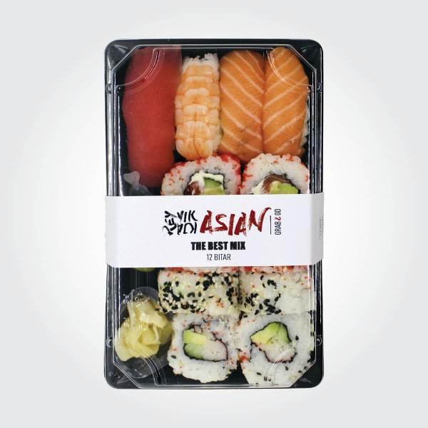 Besta sushi mixið - 12 bitar - Reykjavík Asian