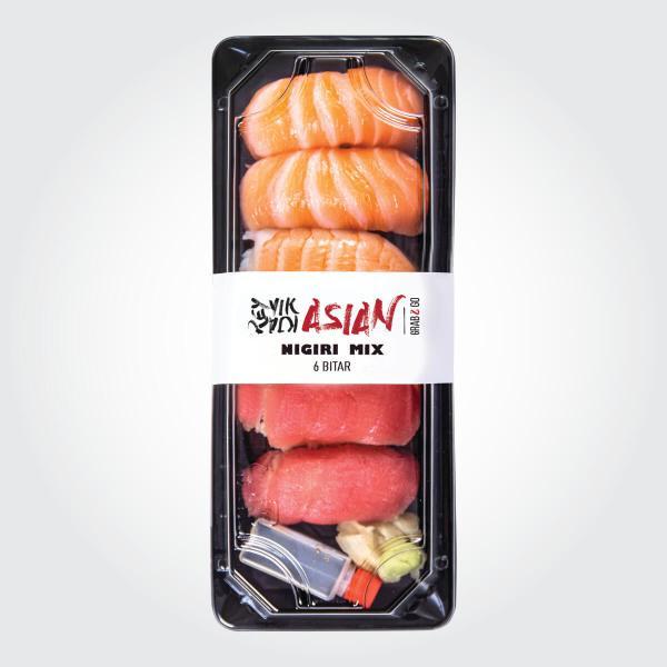 Nigiri Mix - 6 bitar - Reykjavík Asian