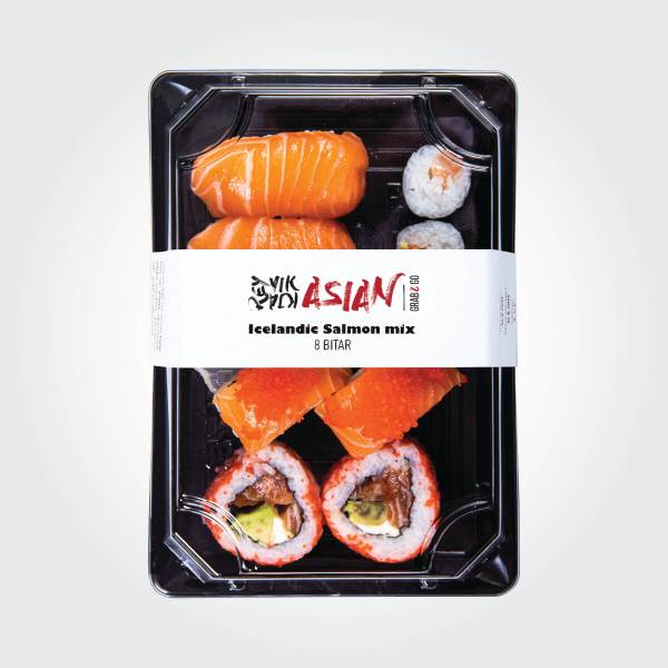 Salmon Mix - 8 bitar - Reykjavík Asian