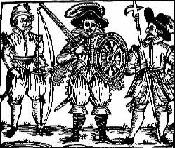Early (Elizabethan?) Depiction of Robin Hood. (Source: Bold Outlaw Website).