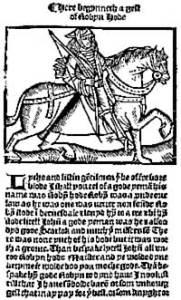 'A Lytell Geste of Robyn Hode' (Printed c.1470 by Wyknen de Worde)