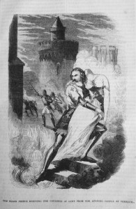 The Black Prince rescuing the Countess of Kent