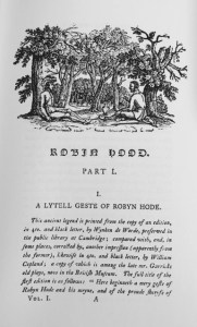 Thomas Bewick's Illustrations to A Lytell Geste of Robyn Hode.