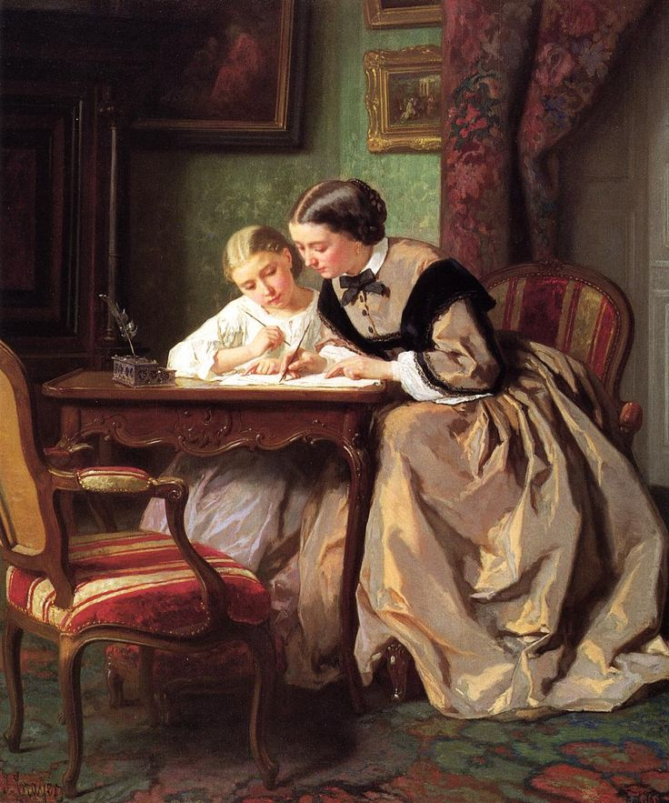 the-lesson-by-jules-trayer-1861