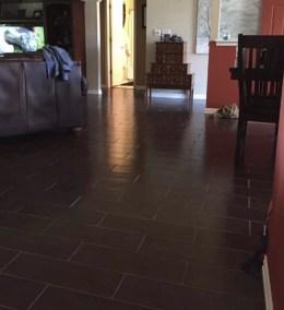 Living Room Tile Installation