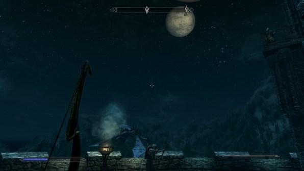 Dragon in the full moon light