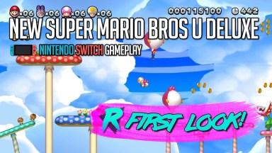 New Super Mario Bros. U Deluxe - First Look - Nintendo Switch