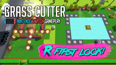 Grass Cutter Mutated Lawns - First Look - Nintendo Switch Gameplay