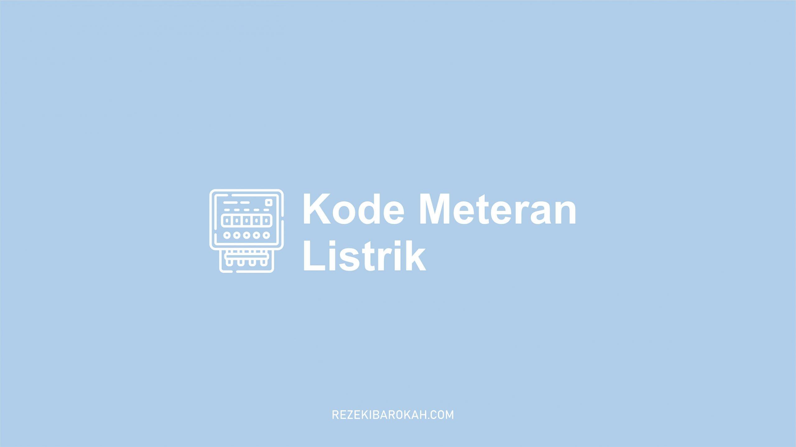 kode rahasia meteran listrik