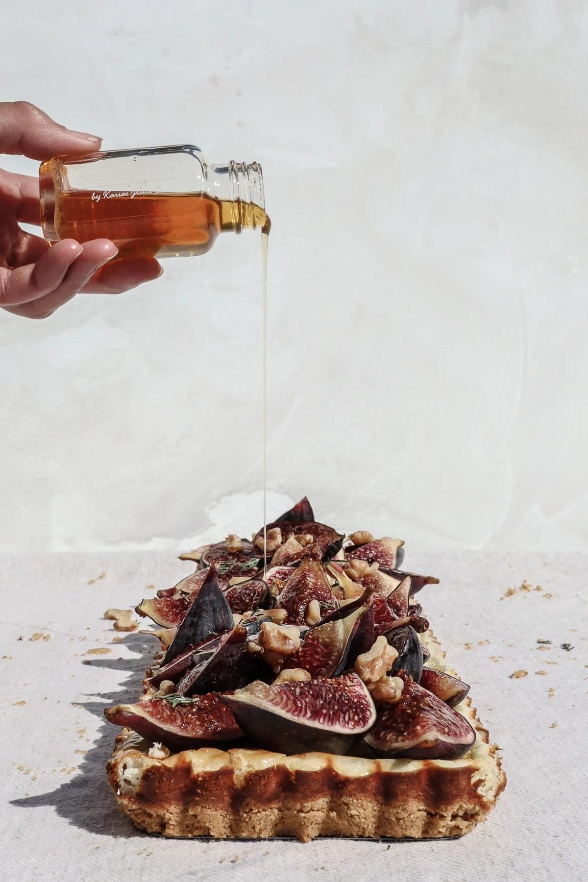 fresh fig tart grain free savory rosemary crust
