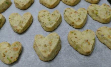 Pistazien Herz-Cookies