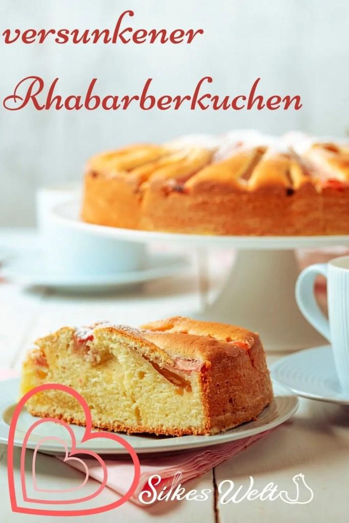 versunkener Rhabarberkuchen Rezept