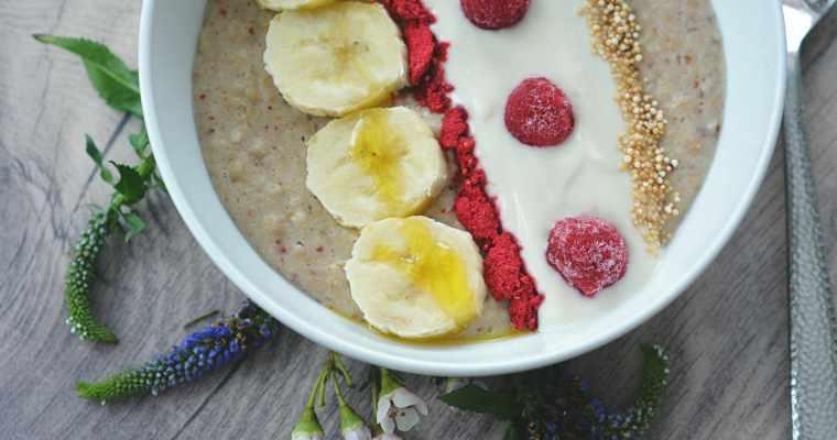 Mandel- Himbeer Porridge