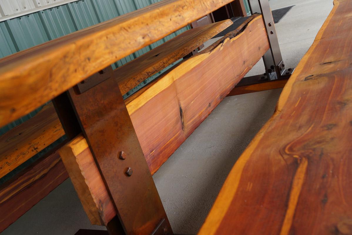 Live Edge Cedar Picnic Table Rezit Designs