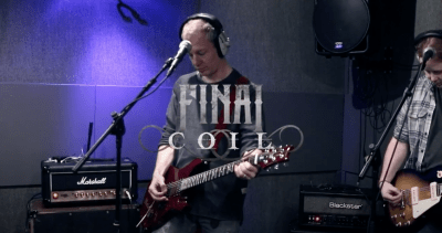 Final Coil debut You Waste My Time live at The Lab Studios in London