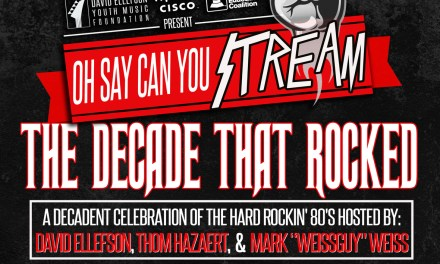 "MEGADETH'S DAVID ELLEFSON AND THE DAVID ELLEFSON YOUTH MUSIC FOUNDATION HOSTS ""THE DECADE THAT ROCKED"