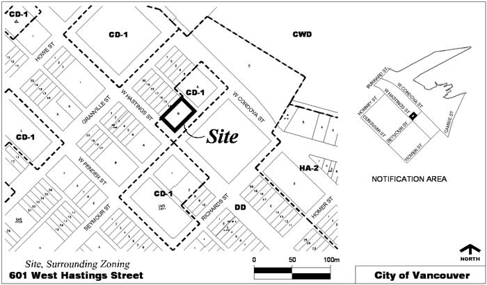 Rezoning Application, 601 West Hastings Street