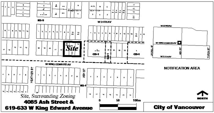 Rezoning Application, 4085 Ash Street and 619-633 West