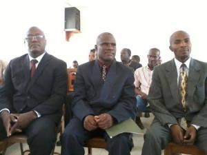 Les trois membres du BED du Nord`Ouest Ralph Moreau, Kerry Hyppolite, Moclès Jean-Baptiste crédit photo: Ralph Moreau (page FB)