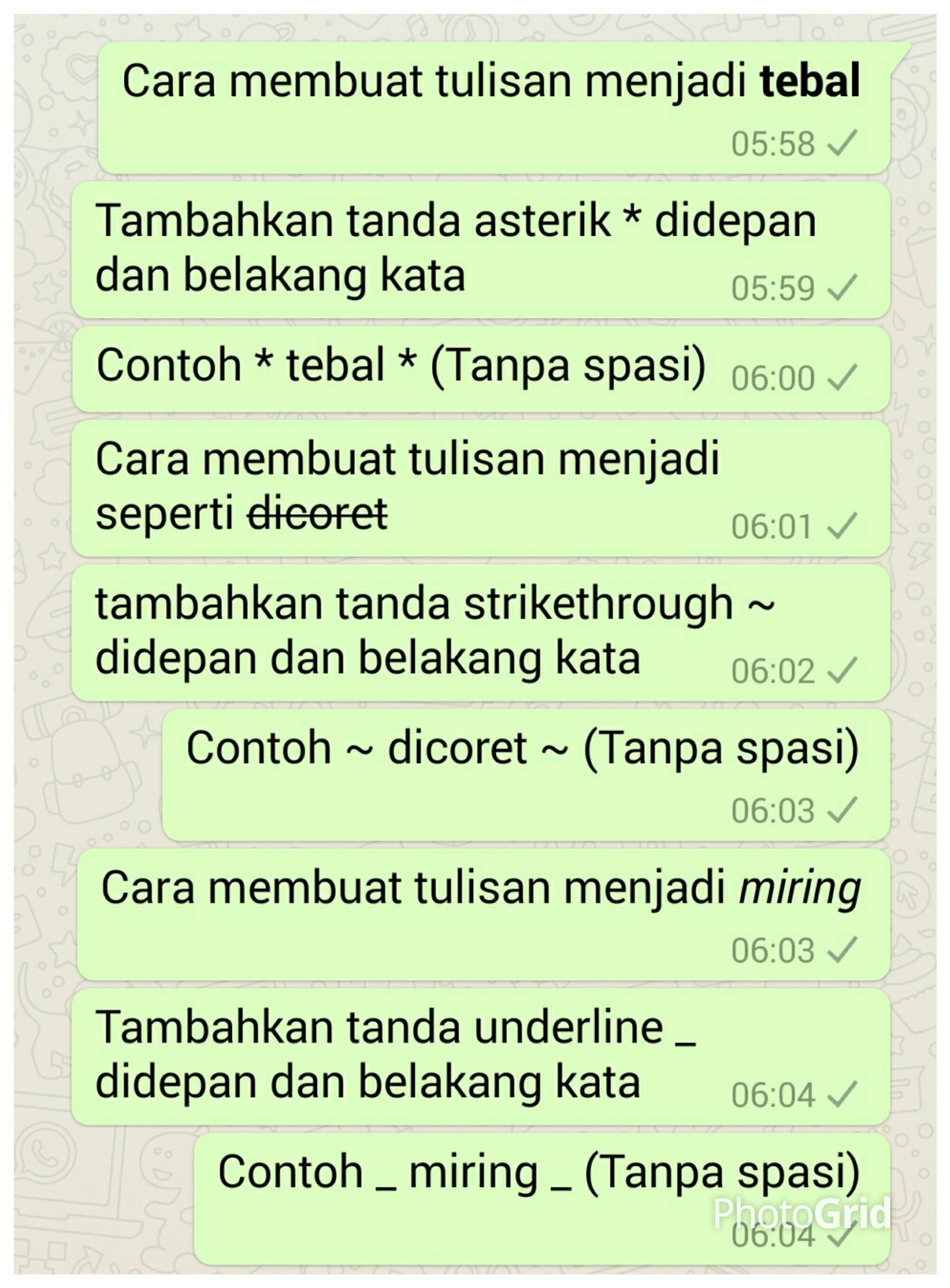 Bold Di Whatsapp : whatsapp, Tutorial), Membuat, Tulisan, Untuk, Whatsapp, Refika, Artari