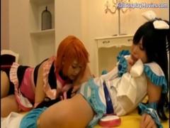 みづなれいと有村千佳がコスプレをしてレズってるrezu動画