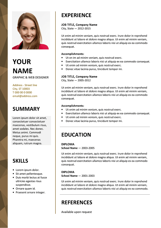 editing resume templates in word