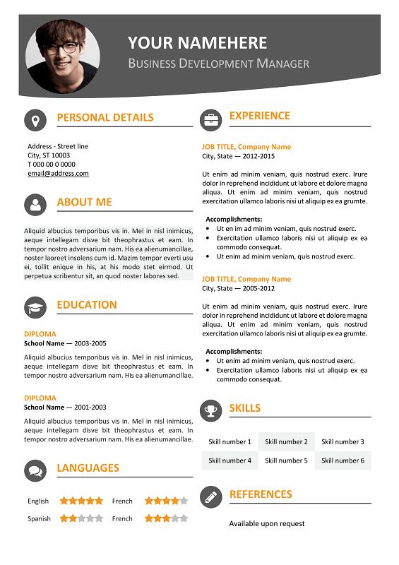 Editable Resume Template Sample Resume Service