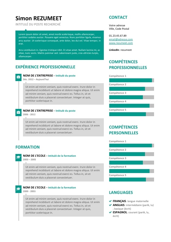 SoHo Modèle De CV Créatif Avec Bulles